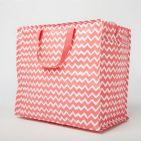 Coral Chevron Jumbo Underbed & Wardrobe Bedroom Storage Bags